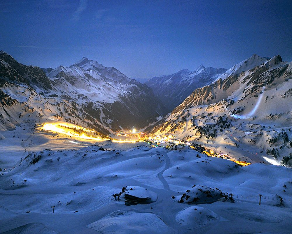 Obertauern at night