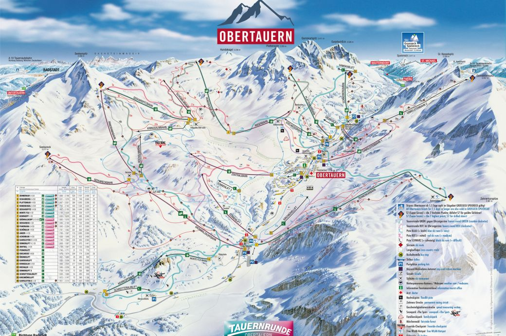 Trail map Obertauern