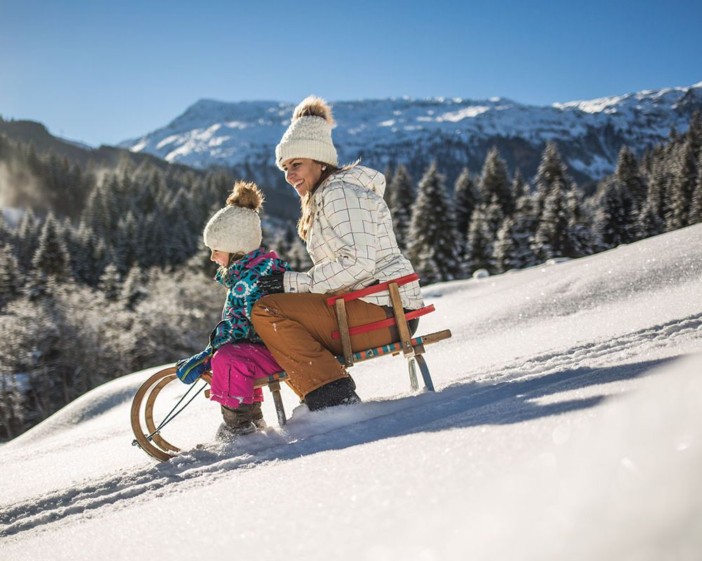 Sledding fun in Obertauern